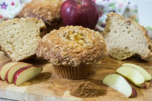 Gormet Apple Crumb Muffins