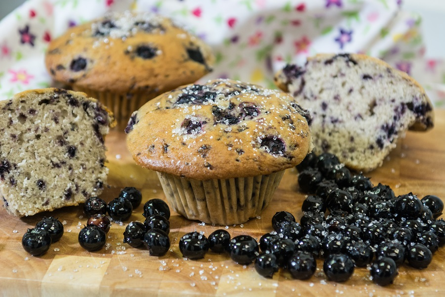 Gourmet Blueberry Muffins
